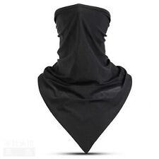 Ice Silk Scarf Breathable Outdoor Face Mask Black Bandana Neck Gaiter Women Mens