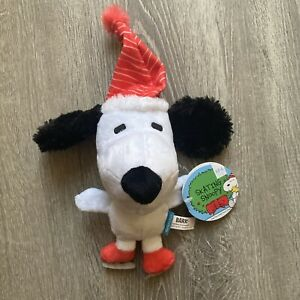 "Barkbox ""SKATING SNOOPY"" Christmas Dog Toy- NEW with Tags- M/L Dogs Dec Bark Box"