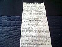 64-3 1939 ephemera falmouth 15/8/39 ww2 article war cabinet 3 years programme