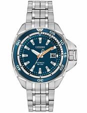 Citizen Signature Grand Touring Mens Automatic Blue Dial Watch NB1031-53L
