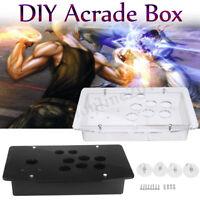 DIY Replacement Acrylic Panel Case Set Handle Arcade Joystick Game  #*1