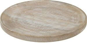 30cm Wooden Candle Plate Wood Decor Plate Serving Plate Under Plate Bottom Plate