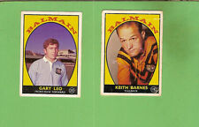 1968 SERIES 1 SCANLENS BALMAIN RUGBY LEAGUE TEAM CARDS, ALL 2 CARDS
