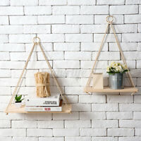 Wall Hanging Shelf Wooden Floating Shelves Display Storage Rack Home Room