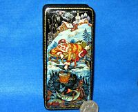 Russian Lacquer Box small GICLEE PALEKH As pike orders Fairy Tale Christmas GIFT