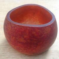 Vase en pate de verre / Vase Art Déco/  Vase boule