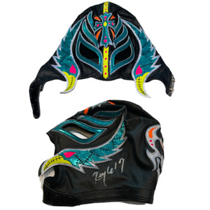 REY MYSTERIO JR 619 HAND SIGNED OFFICIAL PRO GRADE WRESTLING MASK WITH PSA LOA 6