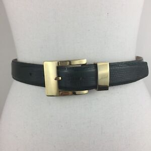 Carlisle Women's Dark Green Genuine Lizard Belt 16003, P