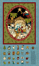ADVENT CALENDAR Fabric DO YOU SEE WHAT I SEE NATIVITY FABRIC PATTERN 8287 NEW