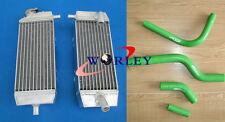 KAWASAKI KXF250 KX250F KX 250 F 2004 2005 04 05 Aluminum radiator + hose GREEN