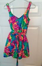 Le Cove Women's Colorful Floral Tummy Control Skirted Bathing Suit Size 14