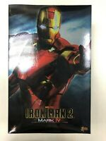 Hot Toys MMS 123 Iron Man 2 Mark IV 4 Tony Stark 12 inch Action Figure NEW