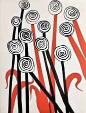 Les Fleurs, Limited Edition Lithograph, Alexander Calder