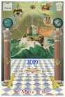 Masonic 2019 CALENDAR  ring Mason Print Poster Freemasonry Scottish York rite