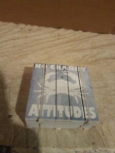 """NEW """"No Crabby Attitudes"""" crab/Ornament coasters."""