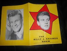 BILLY J. KRAMER SHOW PROGRAMME 1963 FEATURING A FULL PAGE THE BEATLES SHOW DATES