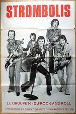 RARE affiche vintage ROCK 'N' ROLL  originale STROMBOLIS - 120 x 80 cm