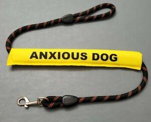 Dog Lead Sleeve yellow anxious dog