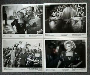 LOT OF 4 ORIGINAL PRESS PHOTOS FOR THE BOYS Bette Midler