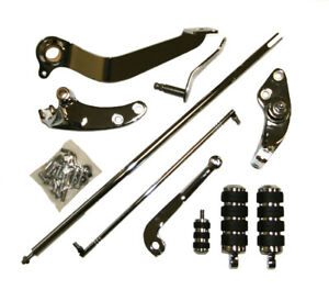 Chrome Forward Controls w/ Pegs & Levers 1993-2011 for Harley Dyna Wide Glide