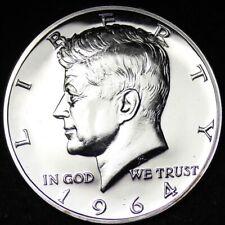 1964 ACCENT HAIR Kennedy Half Dollar GEM PROOF FREE SHIPPING E377 AMM