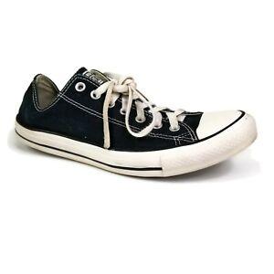 Converse Chuck Taylor All Star Low Black Unisex Lace Up Sneaker Men 10 Women 12