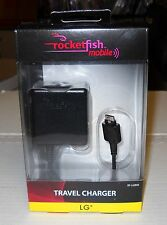 Rocketfish Mobil Travel Charger #RF-LGB90 for LG Cell Phones, BRAND NEW SEALED