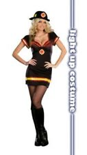 New Dreamgirl Hot Firefighter Sexy Light Up Costume Large Light My Fire