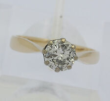 ♦♦ Solitär Ring in aus 14 kt 585er Gelb Gold Silber mit Brillant Diamant 1,0 ct