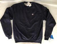 CHAMPION ECO Mens Fleece Long Sleeve Sweatshirt - NEW w/ TAGS - NAVY - MEDIUM