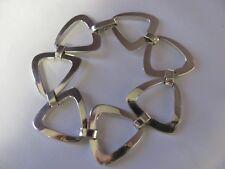 Womens CUSTOM Bracelet, Sterling Silver 925 Triangle Shape, Comfortable, USA NEW