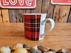 Tolle Tasse 330 ml Kariert Porzellan Becher Keramik Geschirr Kaffee Tee Küche