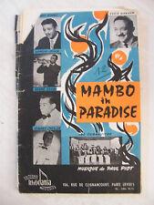 Spartito Mambo in Paradiso Baby Cha Cha Cha Bennet Ekyan Cavallero Paul Piot