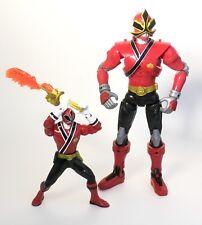 """MMPR Power Rangers Samurai sword morphin 6.5"""" fire figure 10"""" inch battlized lot"""