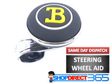 B-LOGO STEERING WHEEL KNOB Handle Sports Car Style Turning Aid Boat Truck NEW