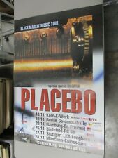 German Rock Roll Concert Poster Placebo Special Guest Idlewild Black Market Tour