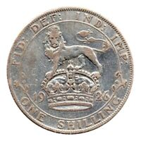 KM# 829 - One Shilling - Silver (.500) - George V - Great Britain 1926 (F)