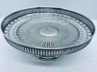 TIFFANY & CO. Vintage (c. 1925) Sterling Fine Silver Pierced Pie Stand Compote