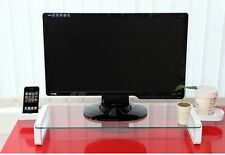 SMART Tempered Glass Monitor Stand Shelf Cup & Phone Holder 3 port USB 2.0 Hub