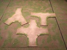 """28mm, 3""""  Intersection road sections,  3pc,  PAINTED"""