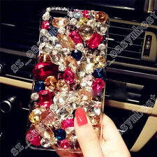 Jewelled Rhinestone Bling Crystal Diamond Case Cover TPU+PC Skin For Cell Phone