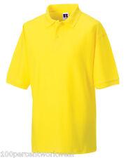 Size MEDIUM Jerzees 539 YELLOW Polycotton Short Sleeved Pique Polo Shirt Work