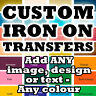 Custom Iron On T-Shirt Transfers Your Image Photo Design Personalised Hen !