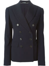 ALEXANDER McQUEEN Navy Double Breasted Blazer Jacket Sz 40 NEW WITH TAGS $2535