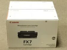 Canon FX7 Black Toner Cartridge 7621A001AA Genuine New Sealed Box Lot Of 2