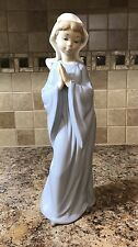 "Vtg 1980 Porcelain Nao by Lladro Praying Girl  Figurine Spain 10 3/4"" Dasia Nun"