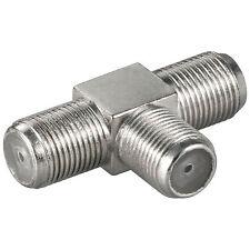 Sat T-Stück F-Kabel Kupplung Adapter Verbinder Y Weiche Verteiler Splitter