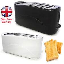 TOASTER 4 SLICE STAINLESS STEEL ELECTRIC 1300W COOL TOUCH KITCHEN / 1 black