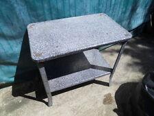 Vintage enamel table art deco design loft ancienne table desserte tole emaillée