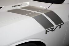 Vinyl Decal RT RALLY RACE STRIPES Wrap Kit for Dodge Challenger 2008-2016 Silver
